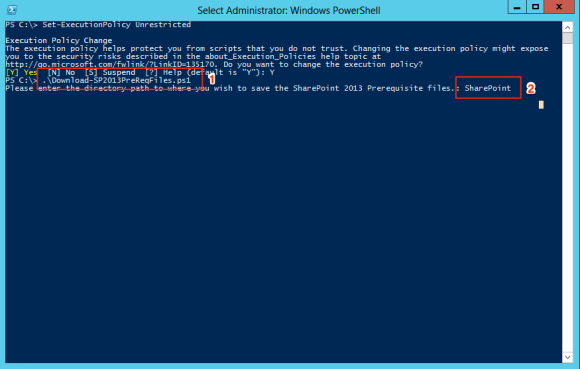 Executing PowerShell script