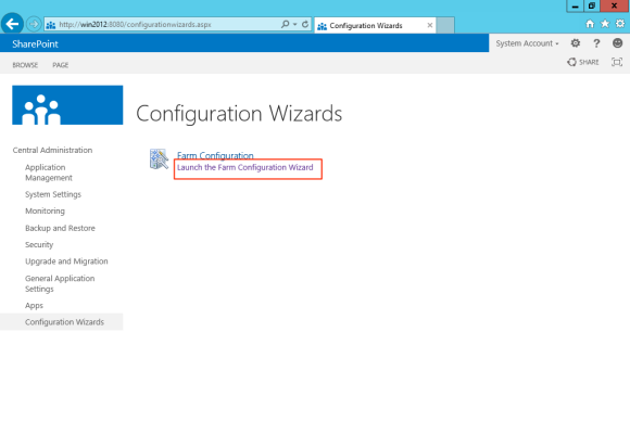 Launch CA configuration wizards
