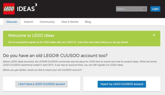 Lego Ideas Cuusoo Account
